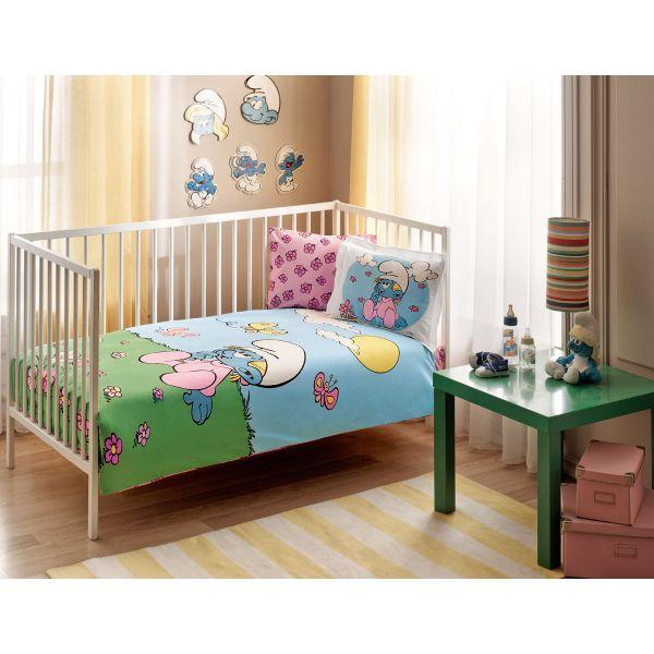 Бебешки спален комплект TAC - Сиринлър Пинк Бейби жълт
