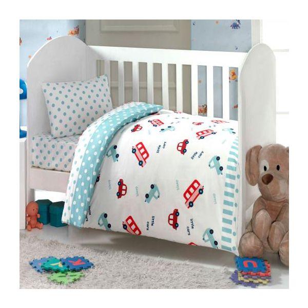 Бебешки спален комплект, Камиончета, синьо