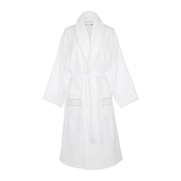 Хавлиен халат Roberto Cavalli - Бяло злато