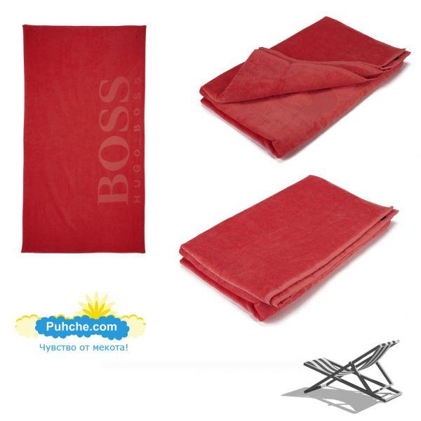 Плажна кърпа BOSS - Bordo
