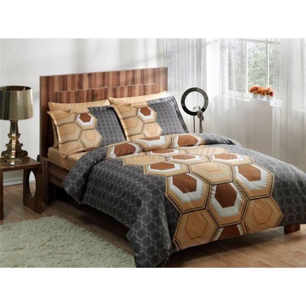 Сатенен спален комплект Aspen, сив