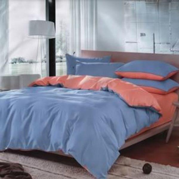Спален комплект - Сьомга/светлосиньо