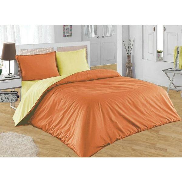 Спален комплект - Оранжево/екрю