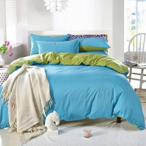 Спален комплект - Светлосиньо/зелено